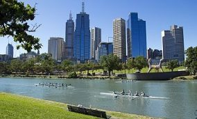 Melbourne Yarra River a great place for stroll